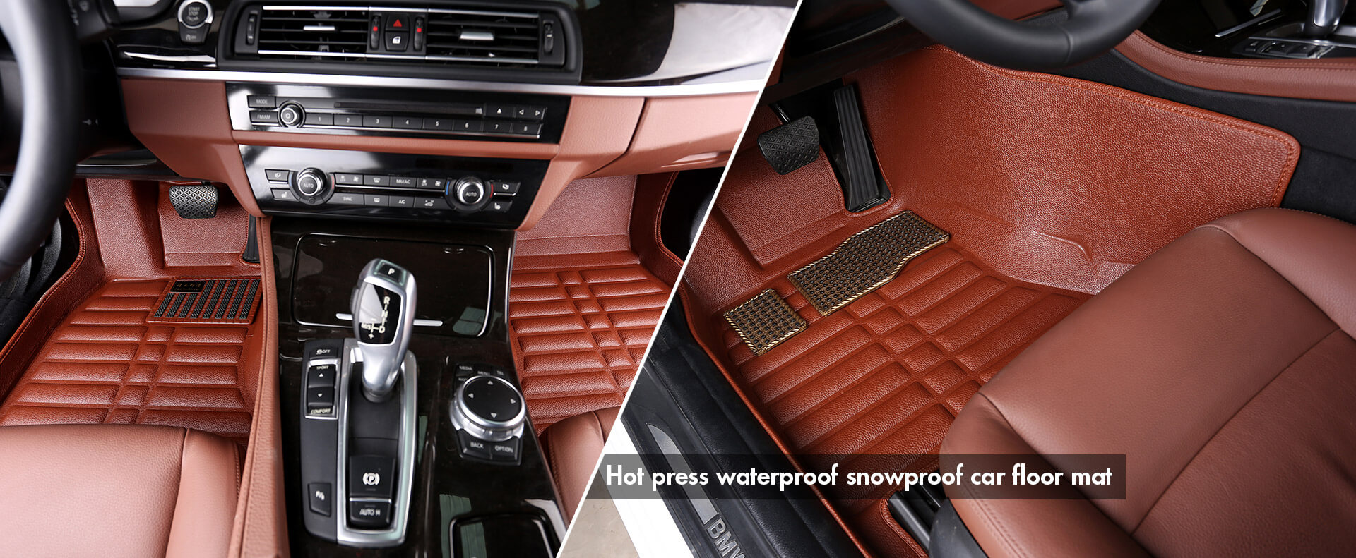Hot press waterproof snowproof car floor mat