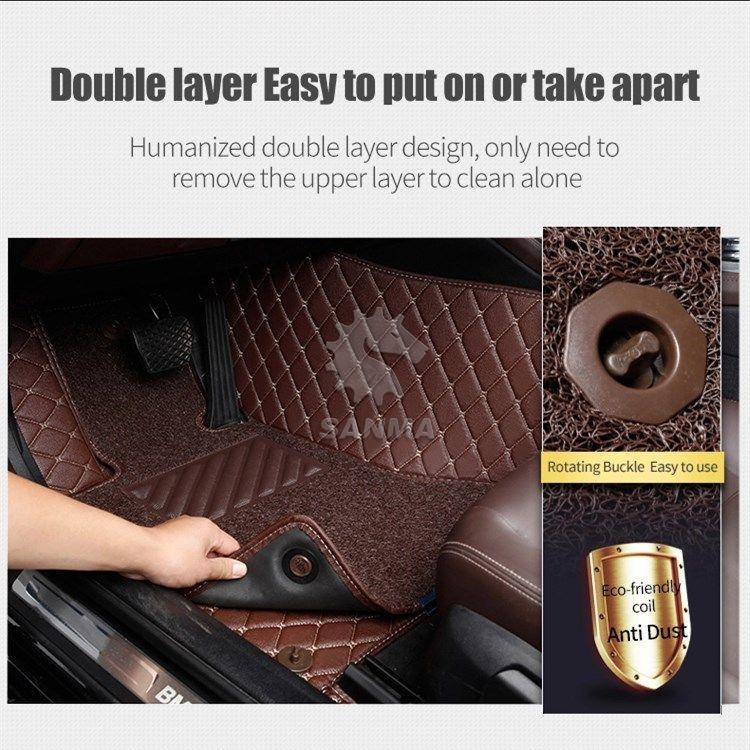3D Surround Leather Single Layer Car Floor Mat